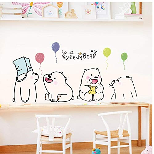 Muurstickers Peedy Beer Dieren Ballon Vinyl DIY Luie Beer Stickers voor Kinderkamer Kwekerij Kleuterschool Home Decor muurschilderingen