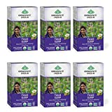 Organic India Tulsi Sleep Herbal Tea - Stress Relieving & Relaxing, Immune Support, Balances Sleep Cycles, Vegan, USDA Certified Organic, Non-GMO, Caffeine-Free - 18 Infusion Bags, 6 Pack