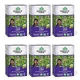 Organic India Tulsi Sleep Herbal Tea - Stress Relieving & Relaxing, Immune Support, Balances Sleep Cycles, Vegan, USDA Certified Organic, Non-GMO, Caffeine-Free - 18 Infusion Bags, 6 Pack