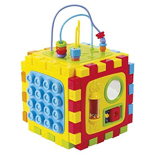 Playgo - Cubo actividades convertible en alfombra - 28x31x41 cm (ColorBaby...