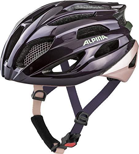 ALPINA Unisex - Erwachsene, FEDAIA Fahrradhelm, nightshade gloss, 53-58 cm