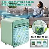 XVBABY Refroidisseur d'air Portable, Mini Ventilateur de Bureau, climatiseur Rechargeable refroidi à l'eau, Ventilateur de Refroidissement à air Mobile Personnel
