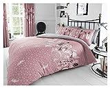GAVENO CAVAILIA Wende-Bettwäsche-Set, Blumenmuster, leicht zu pflegen, Polyester-Baumwoll-Mischgewebe, 50 prozent Polyester & 50 cm, Rosa, Einzelbett