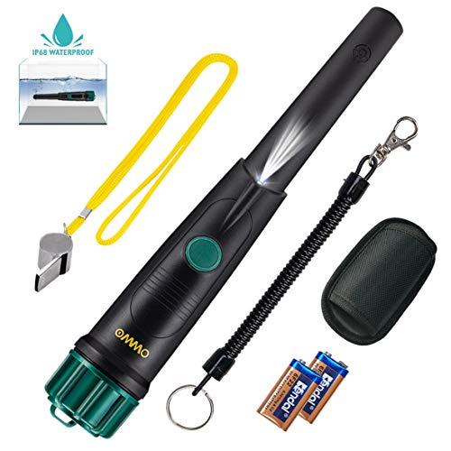 OMMO Metal Detector Pinpointer for Adults and Kids, IP68 Full Waterproof Metal Detector High Sensitive 360 Degree Searching Hand Held Gold Detector with 3 Reminder Modes Detectors Metal