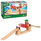 Brio World - 33757 - Pont basculant - Accessoire pour circuit de train en bois - Action de jeu sans pile - Système de pont levis - Jouet mixte à partir de 3 ans