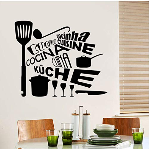 MRQXDP Persönlichkeit Geschirr Wandtattoos Vinyl Textur Aufkleber Küche Restaurant ist Schlafsaal in Art Wallpaper 65x55cm ated Waterproof Muursticker