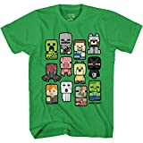 Minecraft Bobble Mobs Roll Call Boys Camisetas - verde - Large