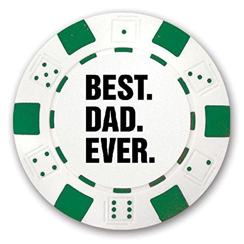 3 Poker Chip Gift Set Best Dad Ever Custom Green Poker Chips