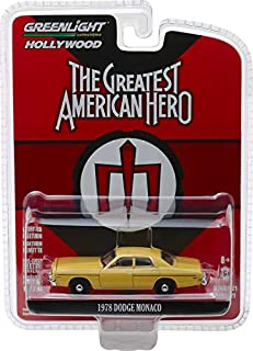 1978 Dodge Monaco Yellow The Greatest American Hero (1981-1983) TV Series Hollywood Series 21 1/64 Diecast Model Car by Greenlight 44810 A
