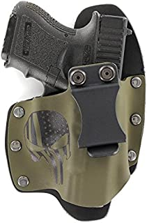 Infused Kydex USA: Punisher OD Green IWB Hybrid Concealed Carry Holsters for More Than 200 Different Handguns. Left & Right Versions Available.