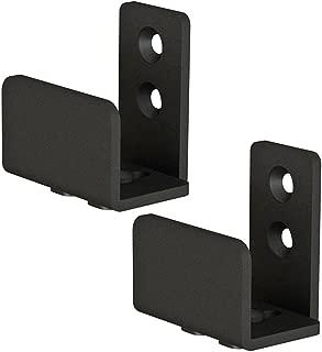 Matte Black Floor Guide Wall Mount Sliding Barn Door Hardware Up to 1-3/8