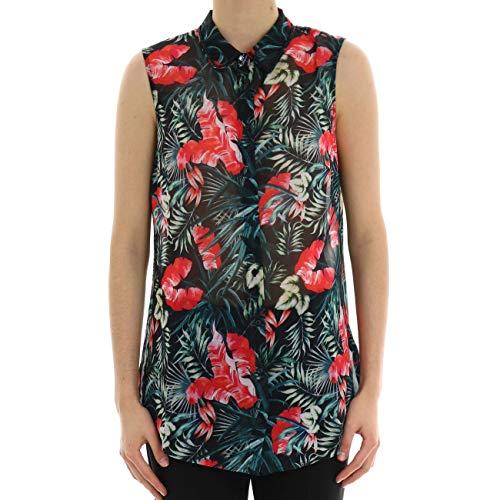 Guess Damen Sl Clouis Shirt Bluse, Multicolore, S