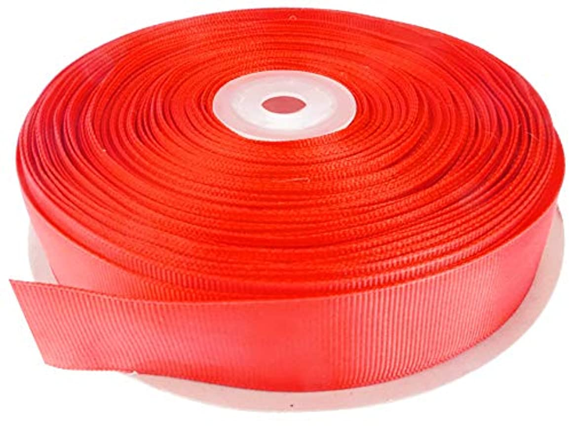 Red 1 Inch Grosgrain Ribbon. 50 Yards Gift Wrapping Spool by Drency Ribbons