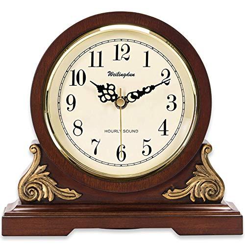 Barm Reloj de repisa de Madera Reloj de repisa Wellington Reloj de repisa de Londres Reloj de repisa de Estilo Tradicional Hecho a Mano - Acabado con carillón de Westminster