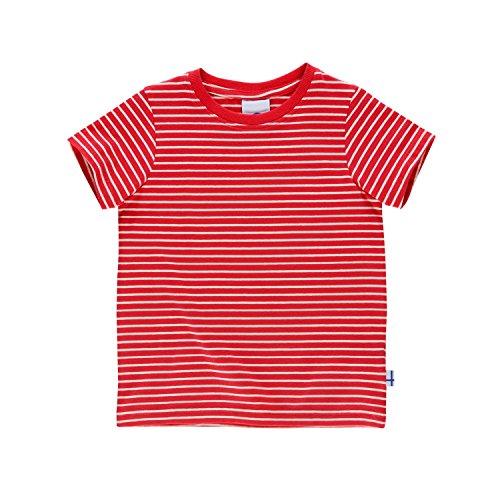 Finkid Supi T-Shirt Kids red/Offwhite Kindergröße 110/120 2019 Kurzarmshirt