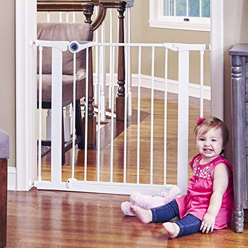"""Toddleroo by North States 38.1"""" Wide Essential Walk Thru Gate: Ideal for securing hallways or doorways. Extra Wide Doorway Baby gate. Pressure Mount. Fits 29.8""""-38.1"""" Wide (30"""" Tall, White)"""