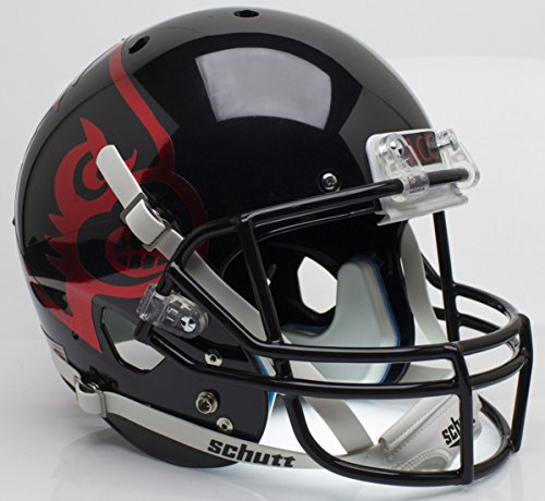 Schutt NCAA Louisville Cardinals Replica XP Football Helmet, Black Alt. 2