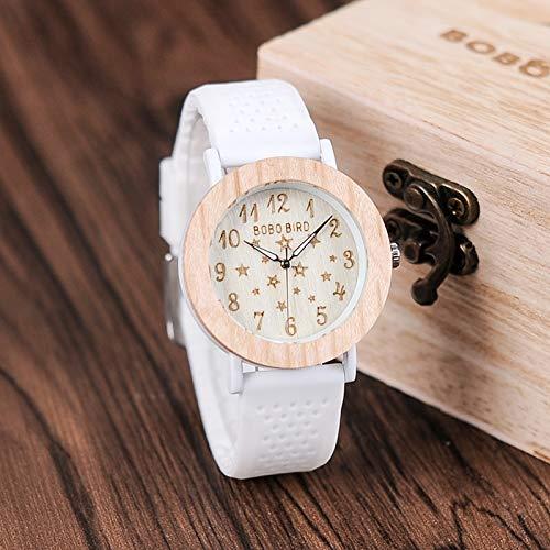 JINSUO DXXLD Relógios de Madeira Feminino Banda Silikon macio céu Estrelado Design de Moda Senhoras relógio de pulso de Quartzo
