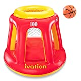 Ivation Inflatable Floating Basketball Hoop & Blow Up Ball...