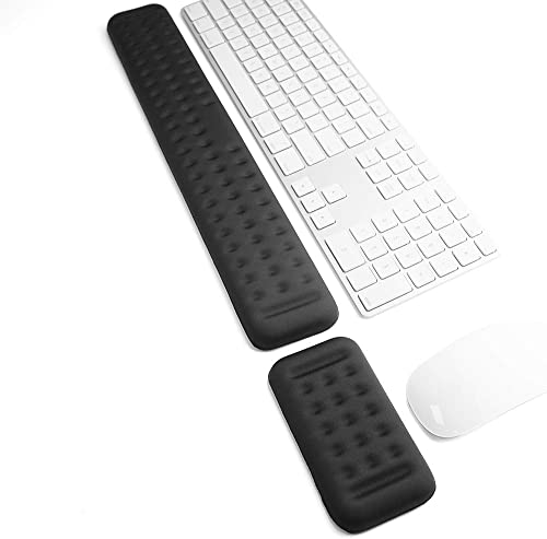 Memory Foam Keyboard Wrist Rest Pad and Mouse Pad with Wrist Rest, Ergonomic Hand Palm Rest Support, Memory Foam Pads...