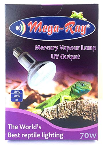 Compact 70 Watt Mercury Vapor Bulb By Mega-Ray