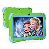 Kids Tablet, 7 inch IPS Display, iWAWA Pre Installed, 1G + 16GB WiFi Android Tablet, Dual Camera, Bluetooth, Kids-Proof Tablet for Kids (Green)