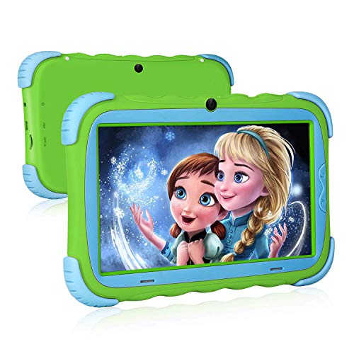Kids Tablet, 7 inch IPS Display, iWAWA Pre Installed, 1G/16GB WiFi Android Tablet, Dual Camera, Bluetooth, Kids-Proof Tablet for Kids