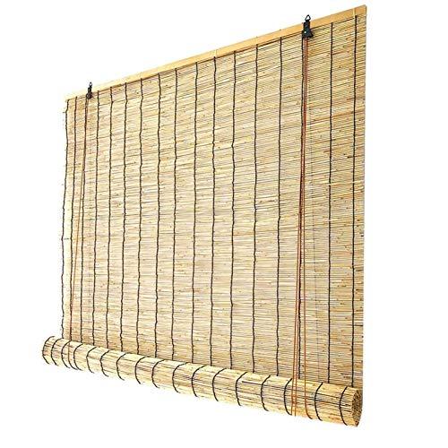 HJRD Tende a Rullo in bambù, Tapparelle in bambù, Decorazione del Tetto, Filtro, Parasole, retrò Impermeabile, Antipolvere, per Padiglioni Balconi Terrazze(75x100cm/30x40in)