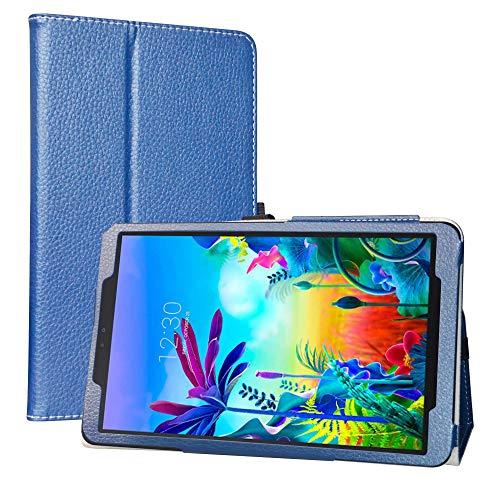 LiuShan Kompatibel mit LG G Pad 5 Schutzhülle, PU-Leder, schmal, faltbar, mit Standfunktion, für LG G Pad 5 10.1 T600 Tablet PC (nicht für LG G Pad X II 8.0 Plus V530), Blau