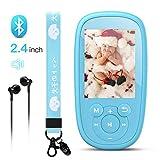 AGPTEK Lecteur MP3 pour Enfant 2.4' Licorne Design avec Haut-Parleur Intégré, Ecouteur et Corde,...