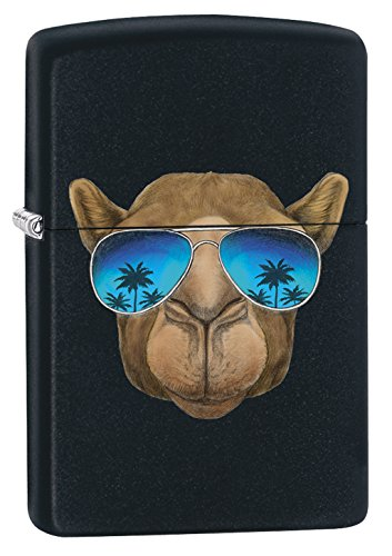 Zippo Camel with Sunglasses Feuerzeug, Chrom, Black Matte, One Size