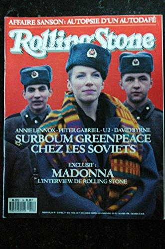 ROLLING STONE M 2312 16 Madonna SANSON Annie LENNOX Peter GABRIEL U2 David BYRNE - 1989 04