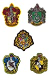 5 Parches Termoadhesivos de Harry Potter - Iron-on Patches para personalizar su ropa o bolsos - Gryffindor, Serpentar