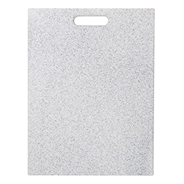 EcoSmart PolyCoco Cutting Board, Light Gray, 12  by 16 , Recycled Plastic and Coconut Shell, Made in the USA by Architec