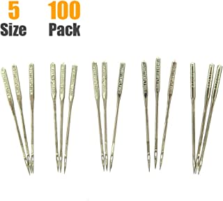 100 Count Sewing Machine Needles Universal Regular Point for Singer Brother, Janome, Varmax, Sizes HAX1 65/9, 75/11, 90/14, 100/16, 110/18