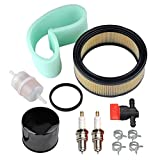 Panari 47 883 03-S1 Air Filter + Oil/Fuel Filter Spark Plug for Kohler CH18 CH20 CH22 CH23 CH25 CV17 CV18 CV19 CV20 CV22 CV22S CV23 Engine Lawn Mower