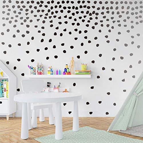Modern Black Irregular Polka Dots Wall Decal Minimalist Geometric Decal Perfect for Kids Bedroom Classroom Decoration(240pcs Dots Sticker )