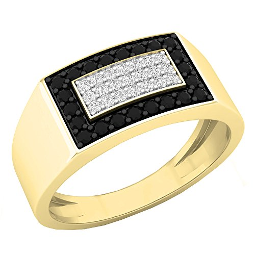 Dazzlingrock Collection 0.45 Carat (ctw) 10K Black & White Diamond Men