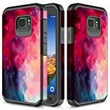 Galaxy S7 Active Case, TownShop Paint Clouds Design Hard Impact Dual Layer Shockproof Bumper Case for Samsung Galaxy S7 Active