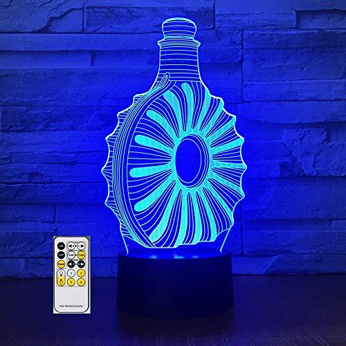 Fernbedienung Weinflasche 3D Tischlampe Kinder Spielzeug Geschenk Acryl Stereo Illusion LED Tisch Nachttisch Kaffee Bar Urlaub Geburtstag Kinder Jungen Geschenk