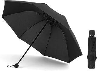 ATOFUL Compact Travel Umbrella - Folding Umbrellas for Wind/Rain with Matte Handle, 8 Ribs Upgraded