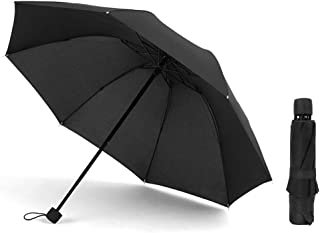Compact Travel Umbrella - Folding Umbrellas for Wind/Rain with Matte Handle, 8 Ribs Upgraded