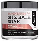 Soothic Sitz Bath Soak - Postpartum Hemorrhoid Treatment - 32 Oz Magnesium Epsom Bath Salt, with Skin Enriching Essential Oils, Kunzea Tea Tree - Rosehip - Lavender - Macadamia Nut and Chamomile