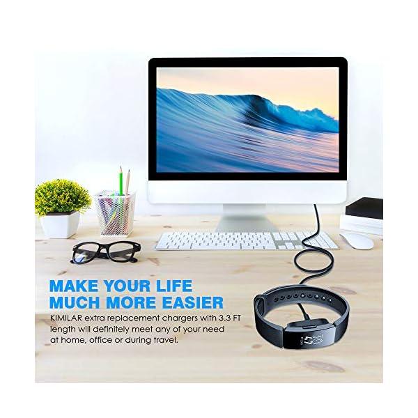 KIMILAR Cable Compatible con Fitbit Inspire/Inspire HR Cable de Carga, (1 Pcs) Cargador Charger (100cm / 3.3ft) USB de… 7
