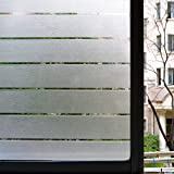 Estática Cling Privacy Window Glass Film Decorativo 3D Frosted Window Stickers para HOme y Office Shutter Stripe 30X200cm