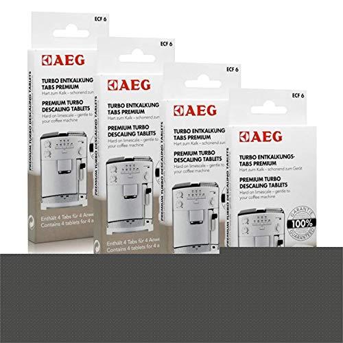 4x AEG ECF 6 Turbo Entkalkungs Tabs für Ihren Kaffeevollautomaten (4 Tabs)