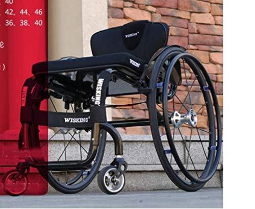 JINKEBIN Elektrischer Rollstuhl, flexibel, modisch, sportlich, manuelle Rollstühle können nach Anforderungen angepasst werden (Farbe: Schwarz).
