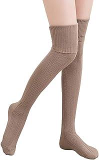 DRESHOW Womens Girls Spring Over Knee Leg Warmer Knit Crochet Socks Leggings
