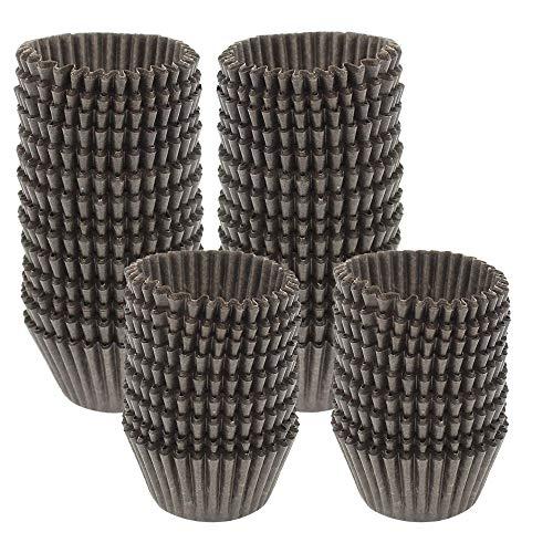 Dreamtop 1000 pezzi mini pirottini di carta da forno per cupcake, cioccolato, caramelle, muffin, marrone