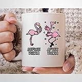 Taza de café con texto en inglés 'Before Vodka After Vodka' para Vodka Alcohol Beber Funny I Love Vodka Presents for Flamingo Lovers Tea Cup 325 ml